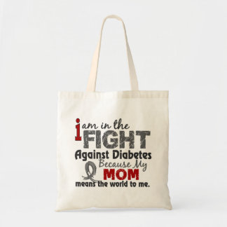 Mom Means World To Me Diabetes Tote Bag