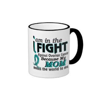 Mom Means World To Me Ovarian Cancer Ringer Coffee Mug