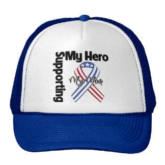 Mom - Military Supporting My Hero Trucker Hat