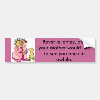 Mom Misses Her Kid Bumper Sticker