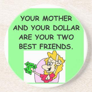 mom money drink coasters
