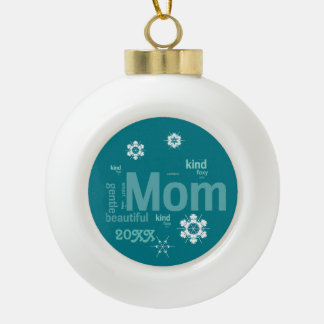 Mom Morning Snow Template Ornament