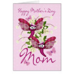 Mom Mother's Day Card With Butterflies From Twins