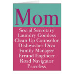 Mom - Mother's Day or Birthday Card