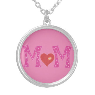 Mom , Mother's day round necklace