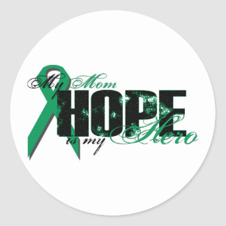 Mom My Hero - Kidney Cancer Hope Classic Round Sticker