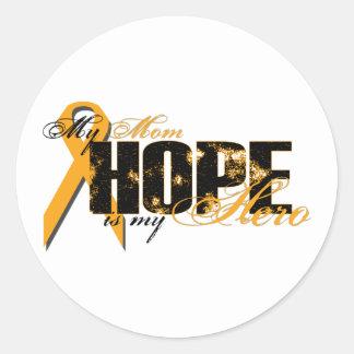 Mom My Hero - Leukemia Hope Classic Round Sticker