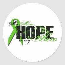 Mom My Hero - Lymphoma Hope Classic Round Sticker