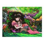 Mom & New Baby Princess Fantasy Art Postcard