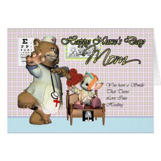 Mom Nurse's Day cute little cat with nurse Card