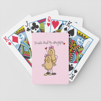 Mom - Nuts About My Daughter T-shirts and Gifts Bicycle Playing Cards