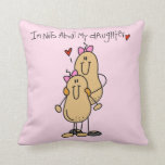 Mom - Nuts About My Daughter T-shirts and Gifts Throw Pillow