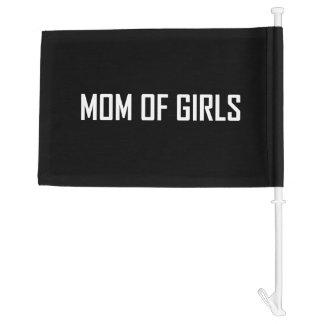 Mom Of Girls Car Flag