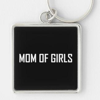 Mom Of Girls Keychain