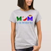 Mom of the birthday boy fish T-Shirt