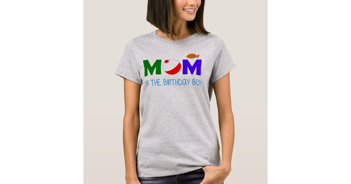 Mom of Birthday Boy First 1st Birthday Fishing shirt Happy Lion Clothing Mom of the Big One Matching Family Shirt
