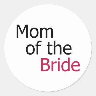 Mom of the Bride Classic Round Sticker