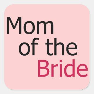 Mom of the Bride Square Sticker