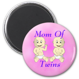 Mom Of Twin Babies Magnet