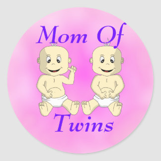 Mom Of Twin Babies Sticker