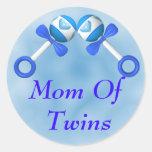 Mom Of Twin Boys Sticker