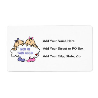Mom of Twin Girls T-shirts and Gifts Label