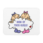 Mom of Twin Girls T-shirts and Gifts Flexible Magnet