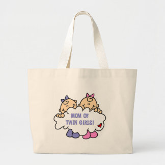Mom of Twin Girls Tshirts and Gifts Canvas Bag