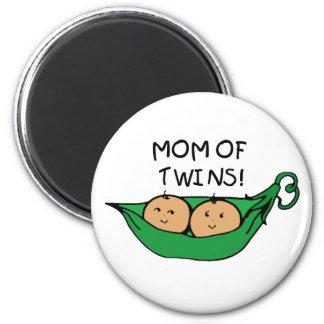 Mom of Twin Pod Fridge Magnets