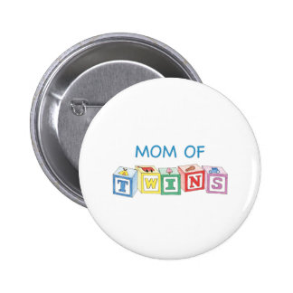Mom of Twins Blocks 2 Inch Round Button