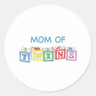 Mom of Twins Blocks Stickers