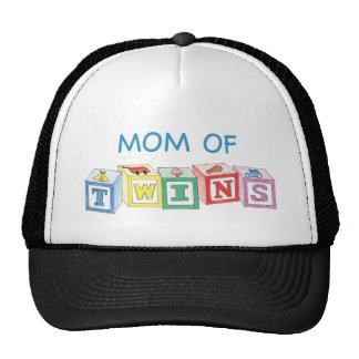 Mom of Twins Blocks Trucker Hat