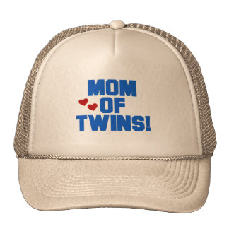 Mom of Twins-Blue Text Tshirts and Gifts Trucker Hat