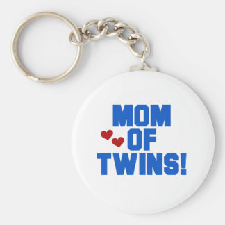 Mom of Twins-Blue Text Tshirts and Gifts Keychain