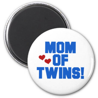 Mom of Twins-Blue Text Tshirts and Gifts 2 Inch Round Magnet