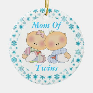 Mom Of Twins Cute Baby Keepsake Ornament Gift