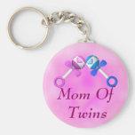 Mom of Twins Keychain (boy, girl)