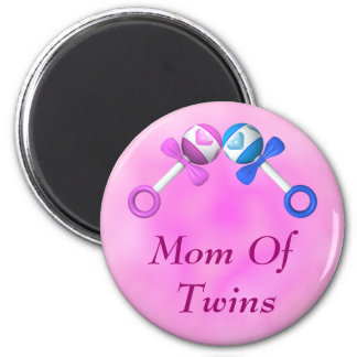 Mom of Twins Magnet (boy, girl)