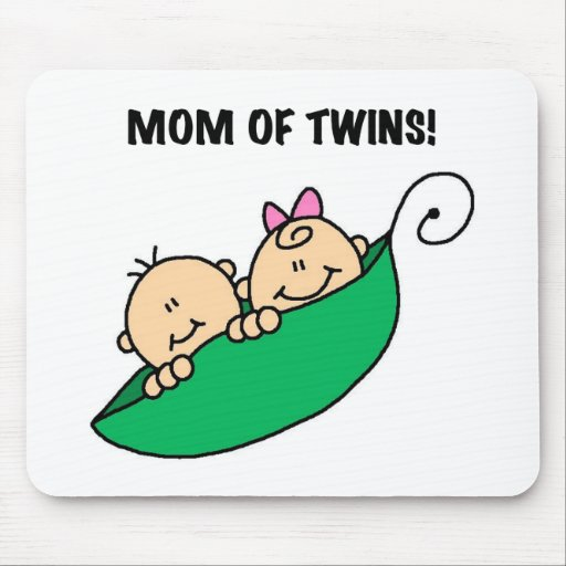 Mom of Twins-Peas in a Pod Tshirts and Gifts Mousepads