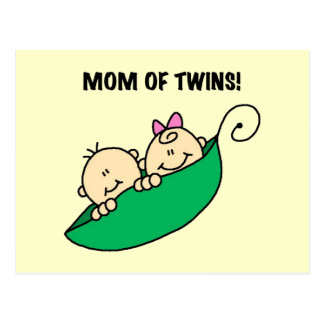 Mom of Twins-Peas in a Pod Tshirts and Gifts Postcard