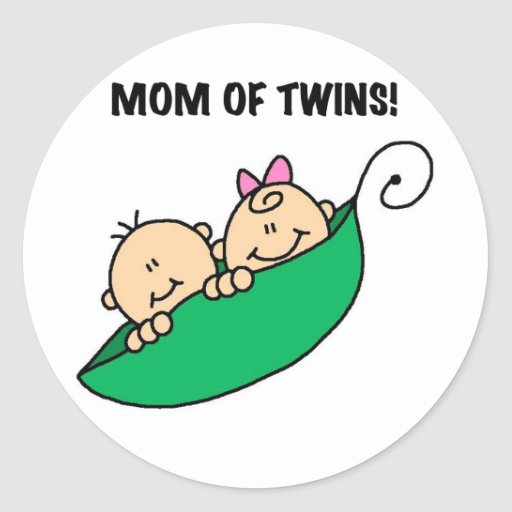 Mom of Twins-Peas in a Pod Tshirts and Gifts Round Sticker