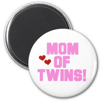 Mom of Twins-Pink Text Tshirts and Gifts 2 Inch Round Magnet