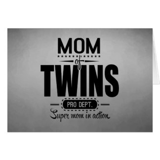 Mom Of Twins Pro Dept. Super Mom In Action Card