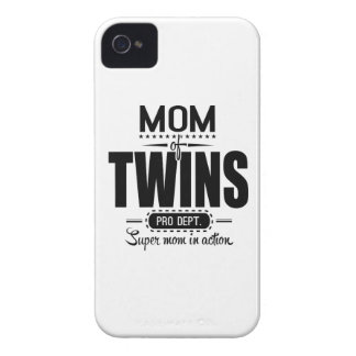 Mom Of Twins Pro Dept. Super Mom In Action Case-Mate iPhone 4 Case