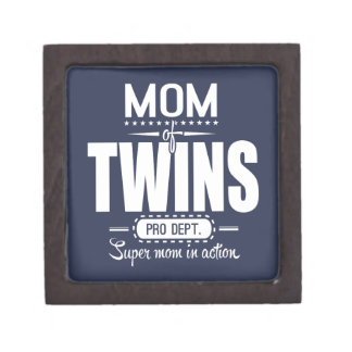 Mom Of Twins Pro Dept. Super Mom In Action Jewelry Box