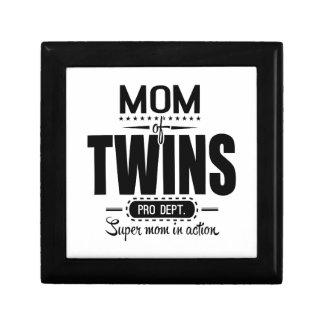 Mom Of Twins Pro Dept. Super Mom In Action Keepsake Box