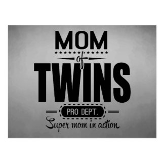 Mom Of Twins Pro Dept. Super Mom In Action Postcard