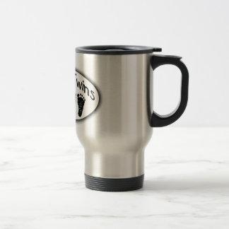 Mom of Twins Stainless Steel Travel Mug