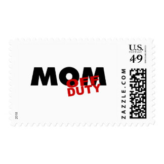Mom Off Duty (Blk) Postage Stamps