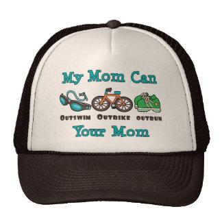 Mom Outswim Outbike Outrun Triathlon Hat